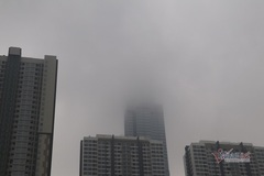 Saigon covered with dense fog