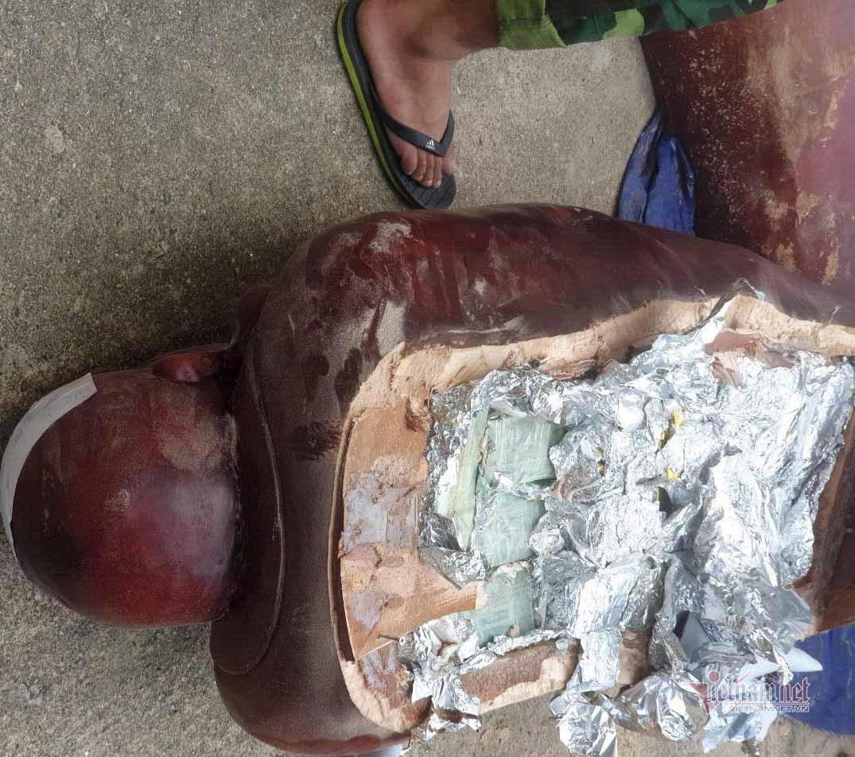 Nữ quái giấu 100kg ma túy trong tượng Phật có cài định vị