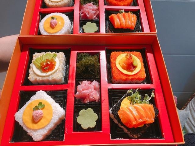 Độc đáo nhất mùa trung thu năm nay: Bánh trung thu sushi tiền triệu/hộp