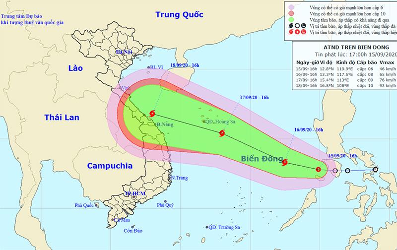 Áp thấp nhiệt đới vào Biển Đông, khi thành bão sẽ mạnh thêm