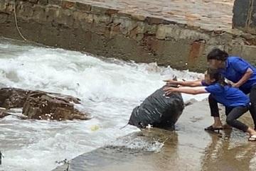 Chủ quán cà phê ở Vũng Tàu lý giải việc nhân viên vứt loạt bao rác xuống biển