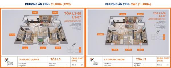 Khám phá căn hộ góc, 2 phòng ngủ Le Grand Jardin chỉ từ 1,7 tỷ