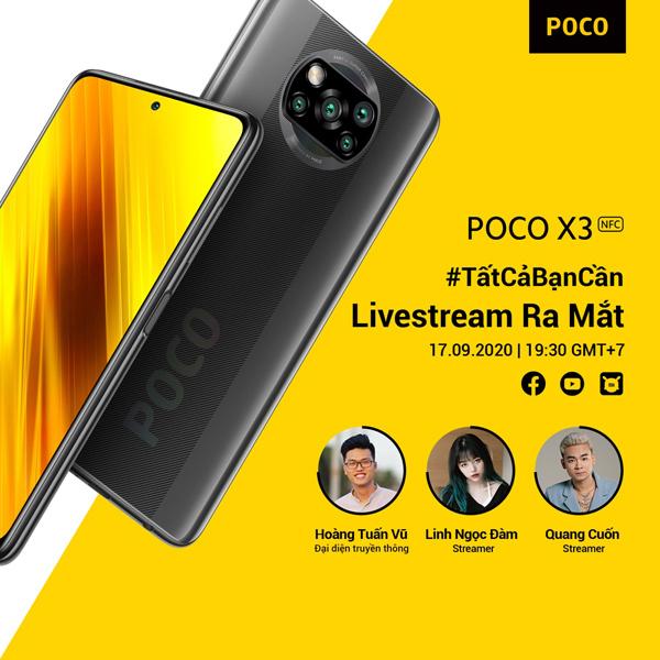 Sắp ra mắt Poco X3 NFC - smartphone dành cho tín đồ game