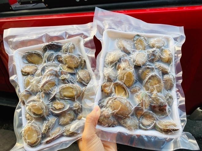 Bào ngư đông lạnh Trung Quốc gắn mác đồ Hàn bán cho dân Việt