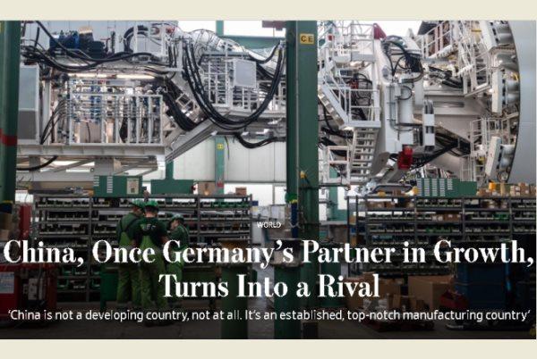 Trung Quốc, từ đối tác trở thành đối thủ của Đức
