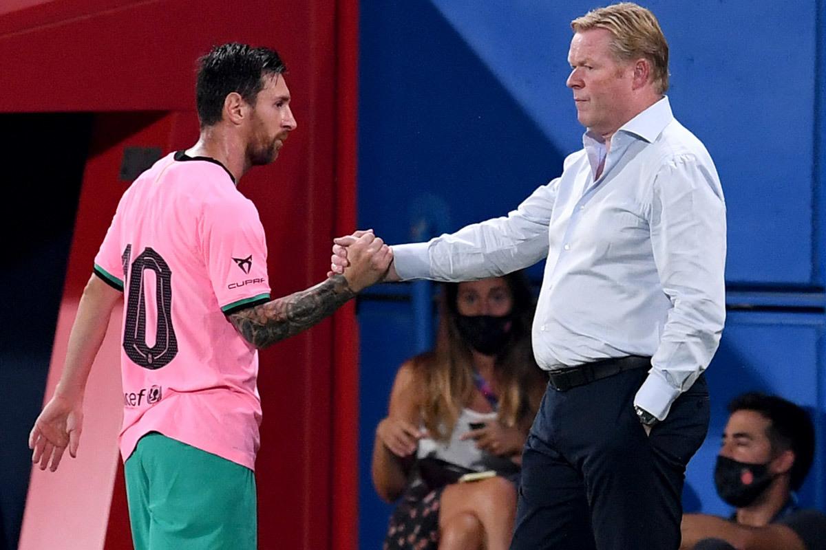 Messi tính chuyện 'lật ghế' Koeman nếu Bartomeu mất chức