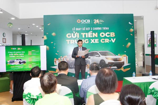 Giải cuối kỳ 'Gửi tiền OCB - Trúng xe CRV' đã có chủ nhân