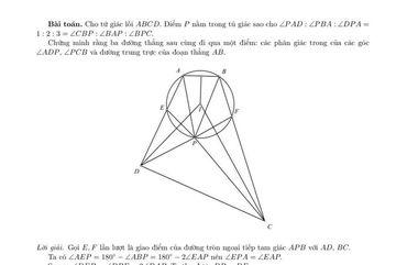 Lời giải bài toán hình học trong đề thi Olympic Toán quốc tế 2020