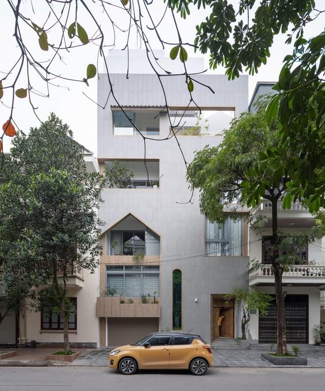 Nhà phố Nam Định nổi bật nhất phố, nhìn xa như gói gọn trong 1 chiếc hộp