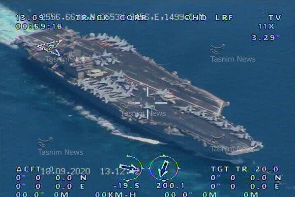 Iran công bố ảnh tàu sân bay Mỹ tiến vào vịnh Ba Tư