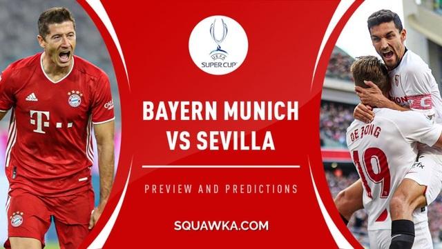 Xem trực tiếp Siêu cúp châu Âu Bayern vs Sevilla ở đâu?