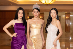 Dàn Hoa hậu, Á hậu lộng lẫy dự họp báo Hoa hậu Việt Nam 2020
