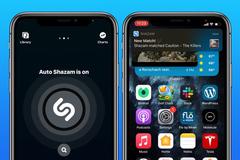 Cách nhận diện tên bài hát bằng cách chạm hai lần vào mặt lưng iPhone