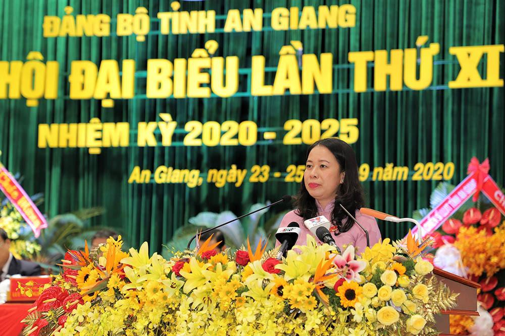 Bà Võ Thị Ánh Xuân tái cử Bí thư Tỉnh uỷ An Giang