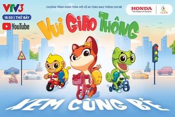 Trẻ em xem phim hoạt hình để 'vui giao thông'