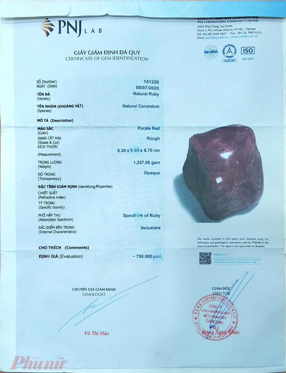 Mua đá quý, kim cương có giấy kiểm định, nhưng vẫn là đồ rởm