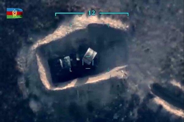 Hình ảnh loạt pháo phản lực BM-21 của Armenia bị phá hủy