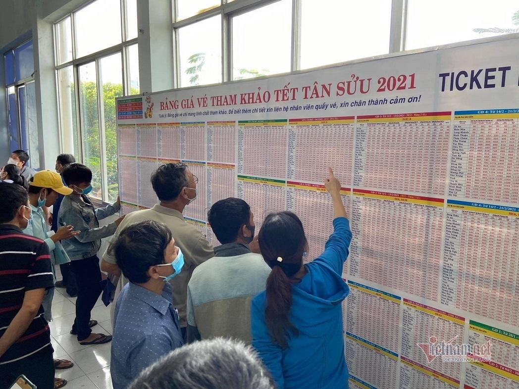 Ngày đầu bán vé tàu Tết, ga Sài Gòn không có cảnh chen lấn