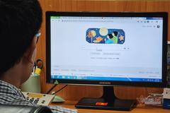 Google tiếng Việt đổi giao diện mừng tết Trung thu