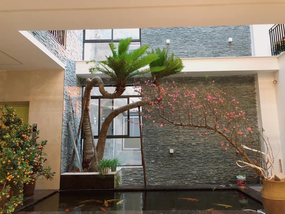 Nhà sang nhiều cây xanh của vợ chồng ca sĩ Trọng Tấn
