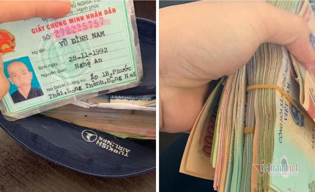 Nhân viên sân bay Vinh nhặt được túi tiền do khách bỏ quên