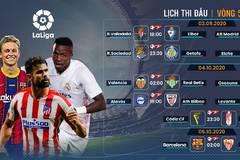 Lịch thi đấu bóng đá La Liga vòng 5