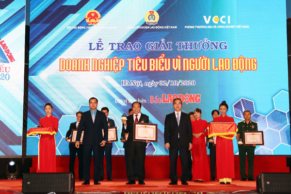 Traphaco nhận giải DN tiêu biểu vì người lao động 2019-2020