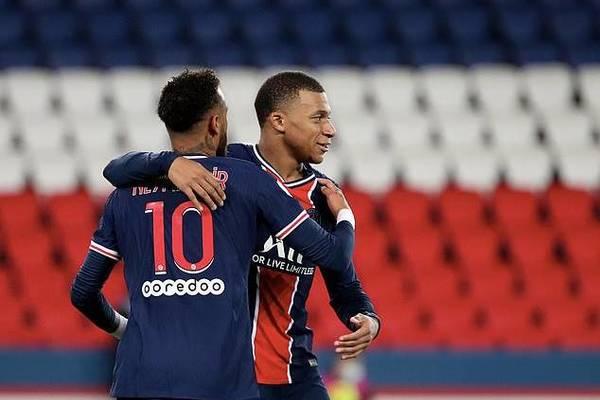 Neymar và Mbappe sáng rực, PSG thắng bằng set tennis