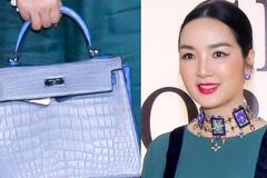 Hoa hậu Giáng My xách túi hàng hiệu hơn 1 tỷ đi sự kiện