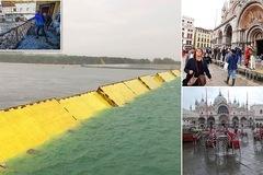 Hàng rào ngầm giúp Venice lần đầu tiên thoát ngập do triều cường