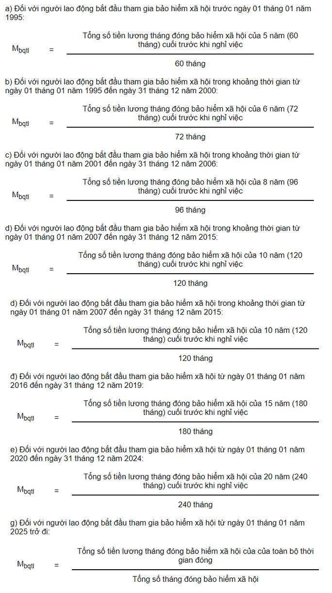 Cách tính lương hưu hàng tháng từ ngày 1/1/2021
