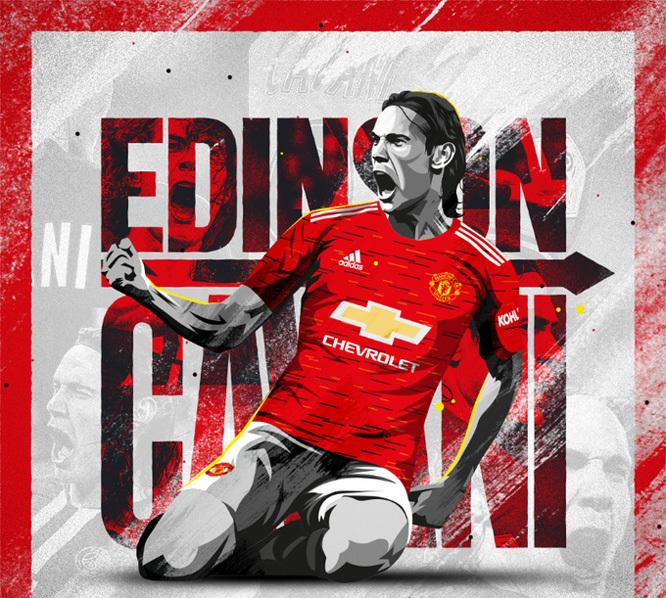 Edinson Cavani mặc áo số 7, hưởng lương 'khủng' tại MU