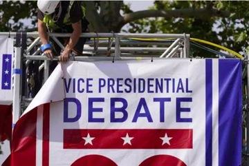 Lập tấm chắn giữa hai ứng viên tranh luận phó tổng thống Mỹ