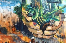 Murals beautifying ancient capital