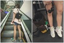 Không nói câu nào, Miu Lê đăng hình khoe chân nuột sau lời miệt thị 'cô bé đô con'