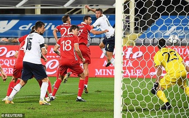 Italy đánh tennis trước Moldova
