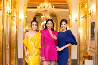 Dàn người đẹp xuất hiện sặc sỡ tại họp báo Hoa hậu Việt Nam