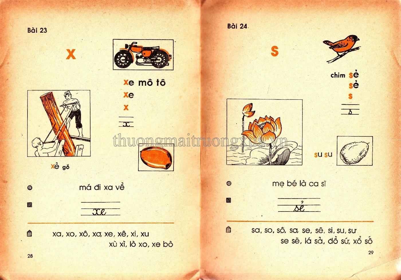 Những bài học Tiếng Việt 1 một thời gây thương nhớ