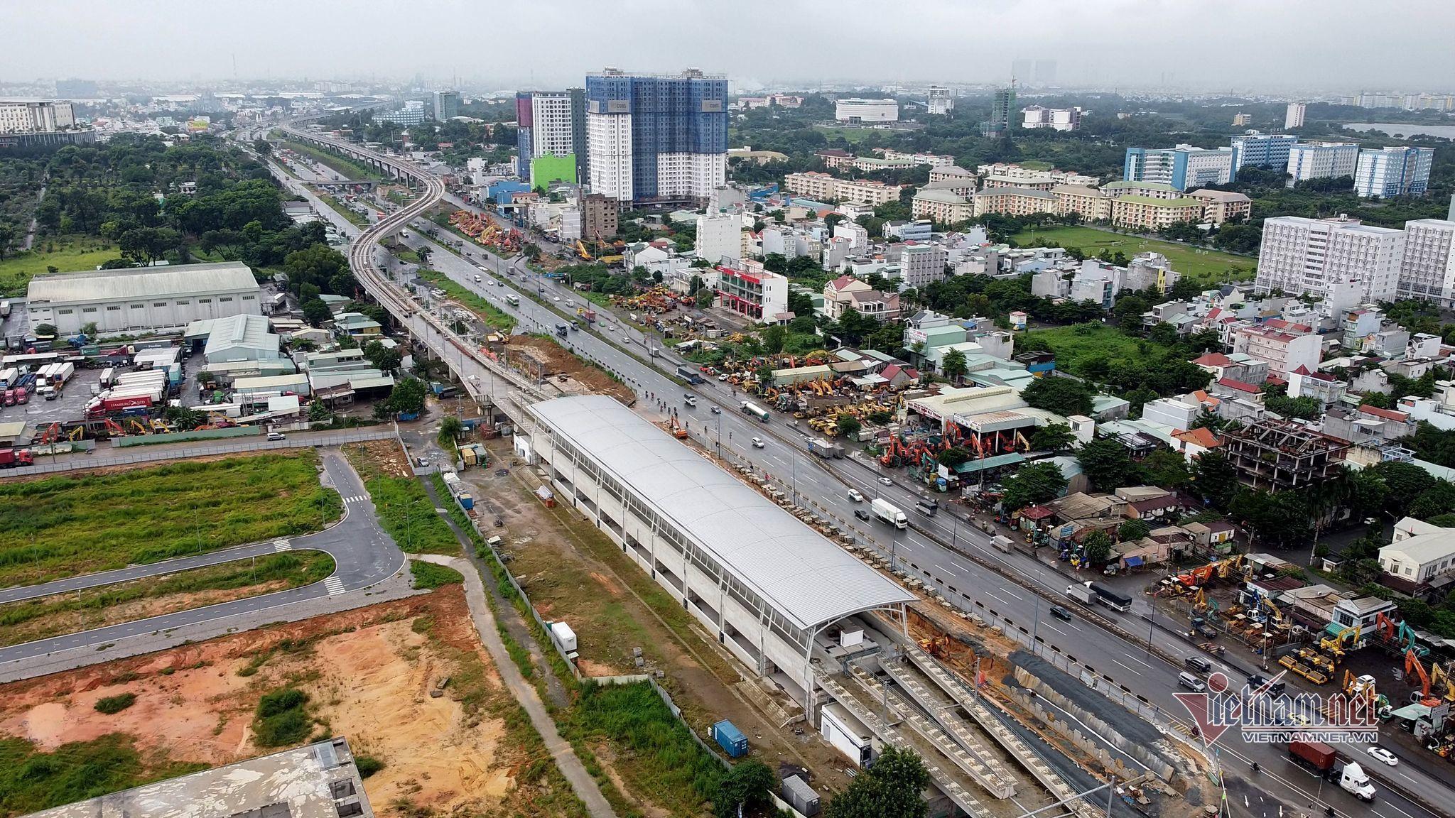 Toàn cảnh depot Long Bình, nơi tiếp nhận ba đoàn tàu đầu tiên của metro số 1