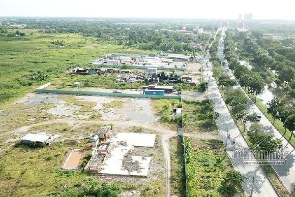 Cưỡng chế công trình không phép, chiếm đất tại dự ánKCN 'treo' 18 năm
