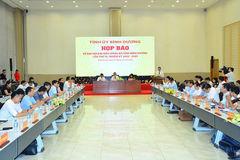 Bình Dương họp báo về Đại hội đại biểu Đảng bộ tỉnh Bình Dương lần thứ XI, nhiệm kỳ 2020-2025