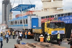 Carriages for first metro line arrive in HCM City