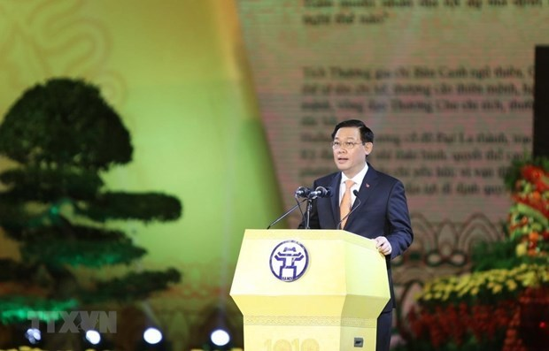 1010th anniversary of Thang Long-Hanoi,Secretary of the Hanoi Party Committee Vuong Dinh,social news