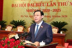 Bí thư Hà Nội Vương Đình Huệ nói về yêu cầu nhân sự khóa mới