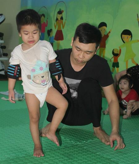 Children with cerebral palsy,Ninh binh