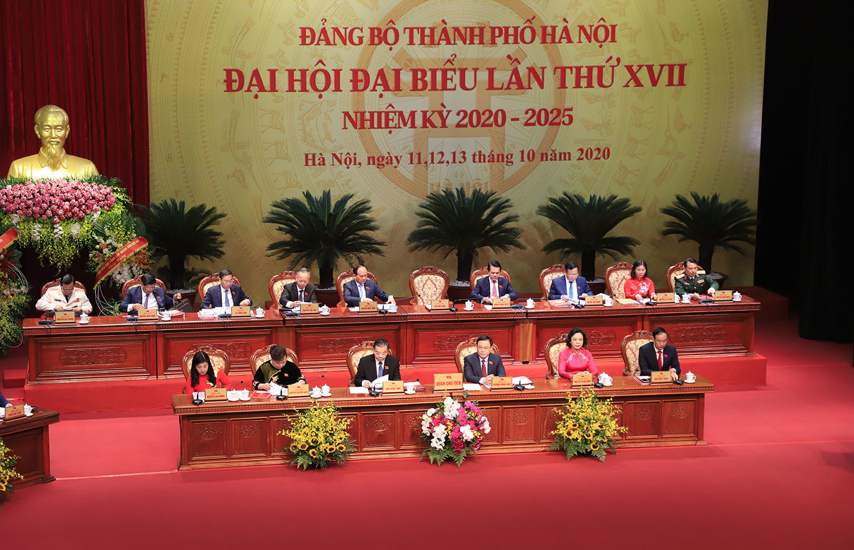 Tổng Bí thư, Chủ tịch nước dự Đại hội Đảng bộ Thành phố Hà Nội