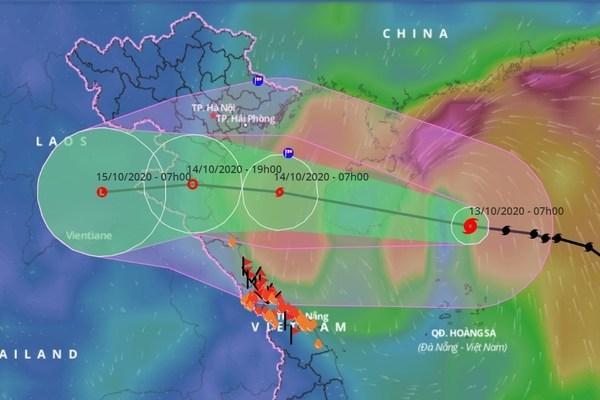 Bão số 7 ngày mai đổ bộ, Bắc Bộ và miền Trung mưa to gió lớn
