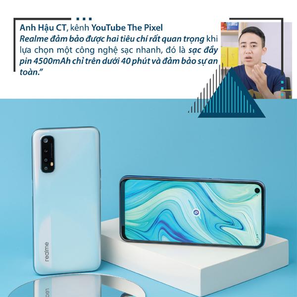 Công nghệ sạc nhanh của Realme 'được lòng' giới yêu công nghệ