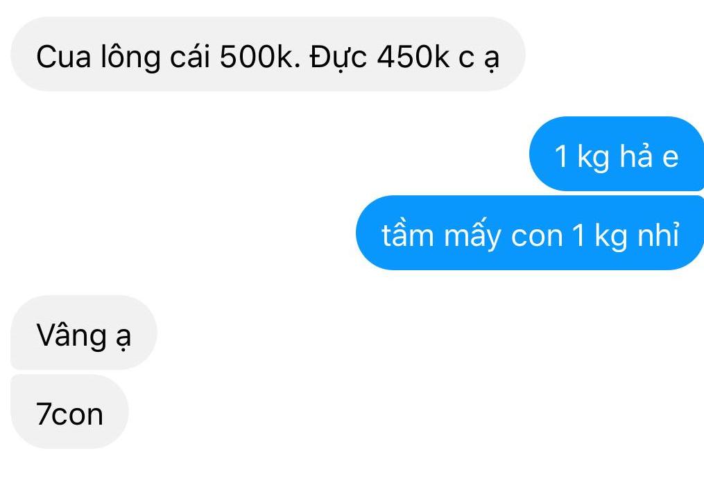 Cua lông về Việt Nam loạn giá, người tiêu dùng bất ngờ vì siêu rẻ, có nơi bán 70.000 đồng/con