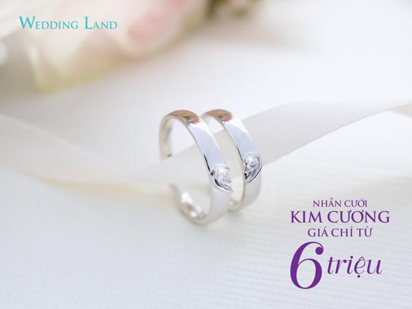 DOJI gây sốt với nhẫn cưới kim cương giá 6 triệu đồng
